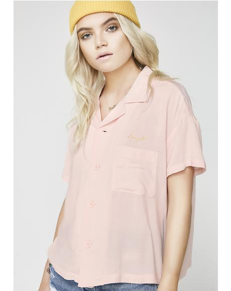 Waterfalls Resort Bleach Peach Shirt