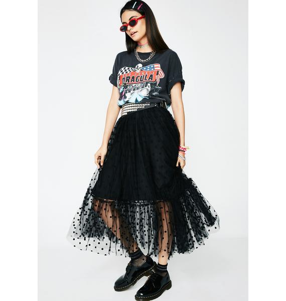 Polka Luv Tutu Midi Skirt