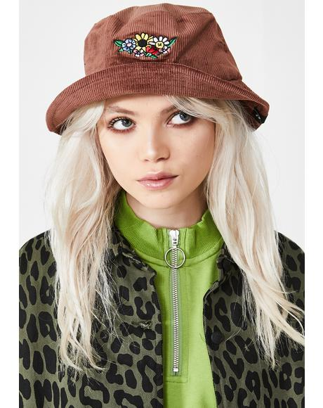 Flower Bunch Corduroy Hat