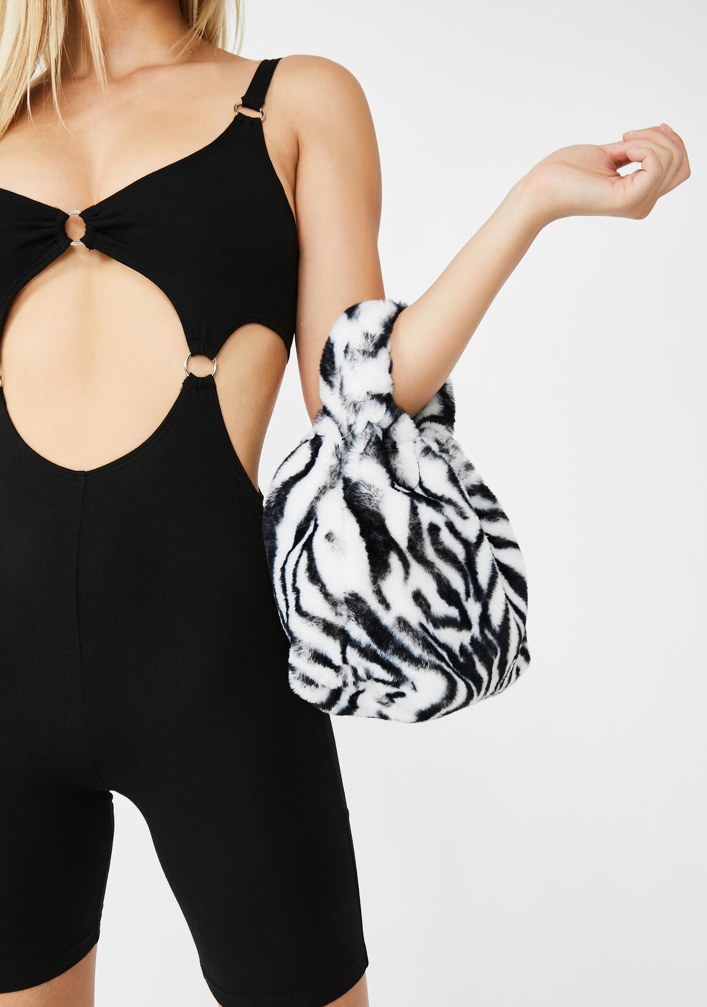 Wild Side Of Sass Fuzzy Handbag