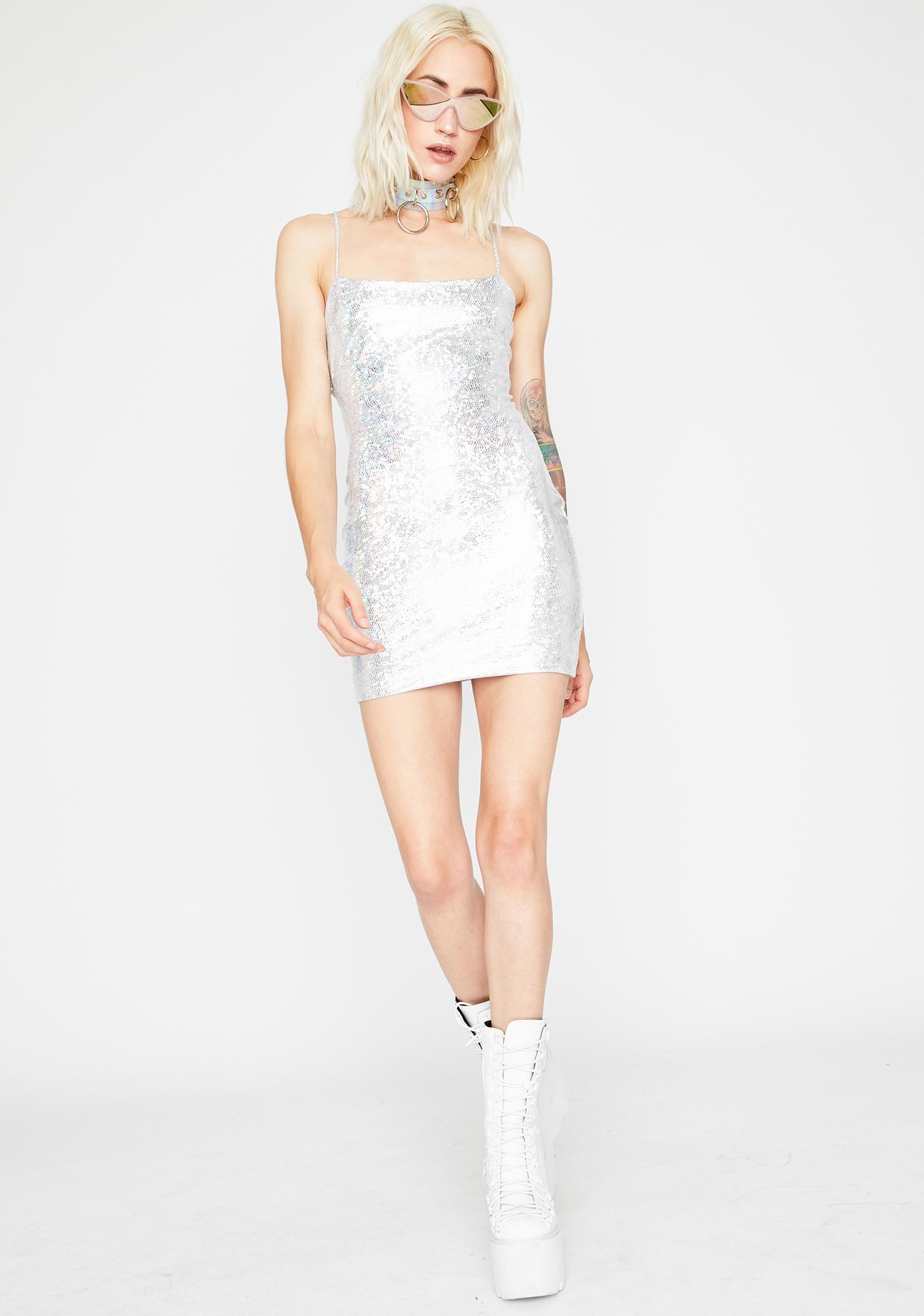 Space Stunt Holographic Dress