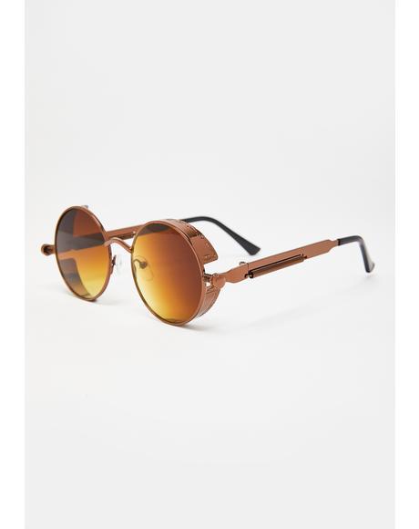 Desert Nights Circle Sunglasses