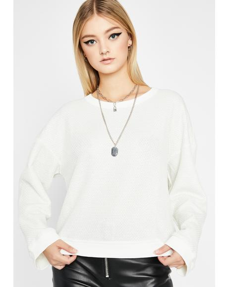 Purely No Interest Long Sleeve Sweater