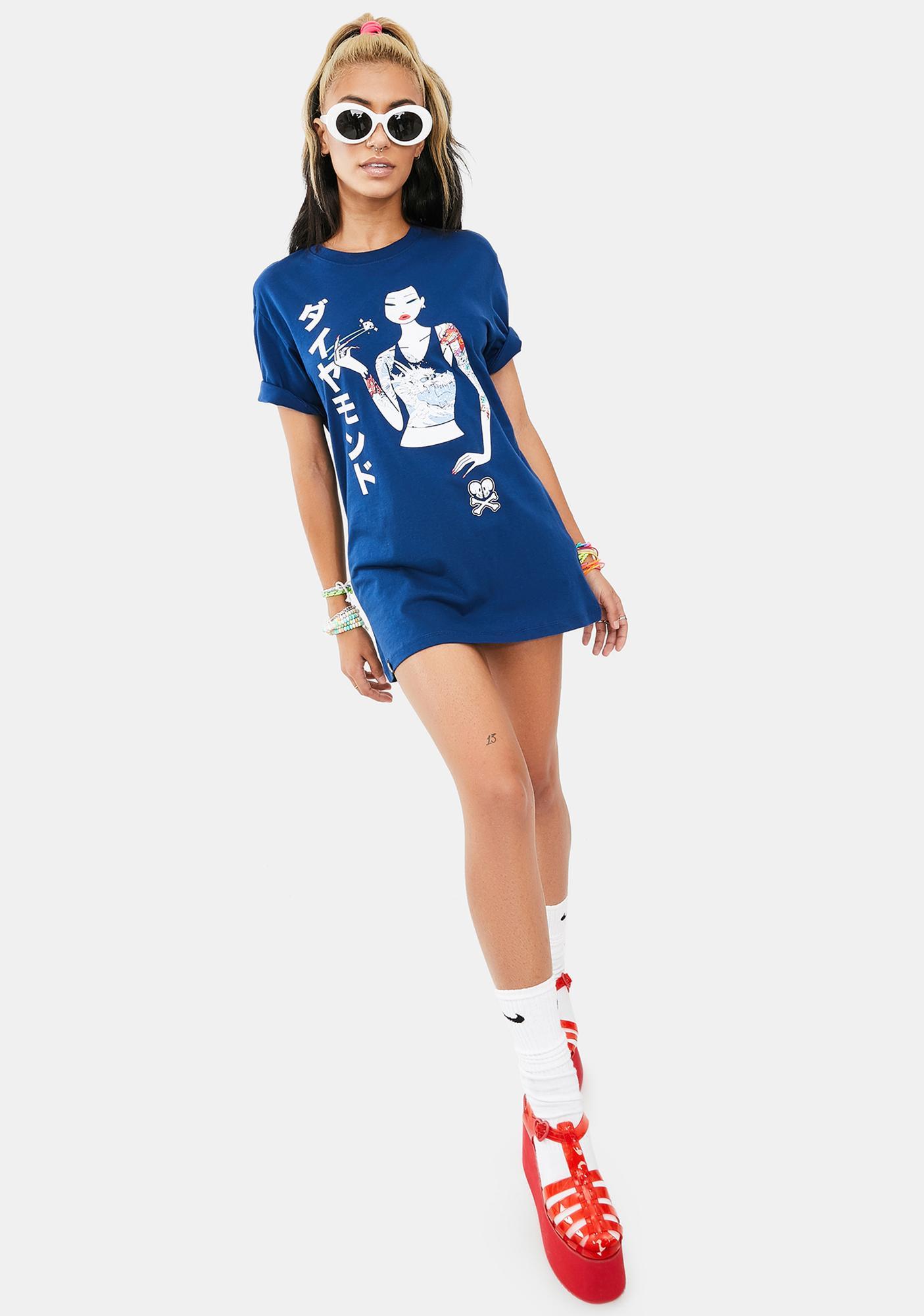 Tokidoki Japanese Diamond Girl Short Sleeve Graphic Tee