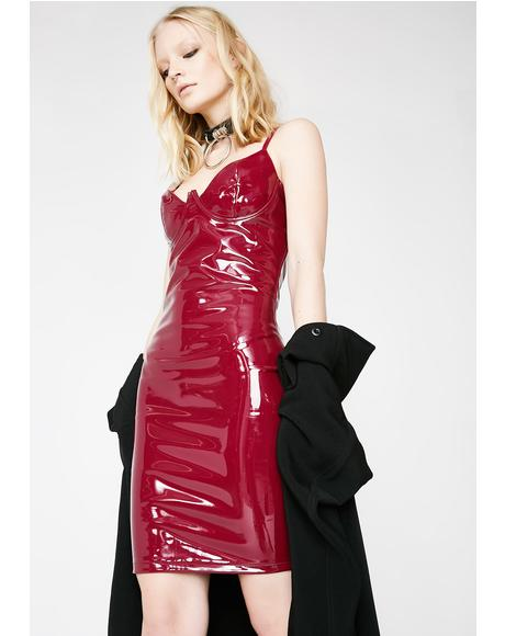 Ruby Dark Fetish Vinyl Dress