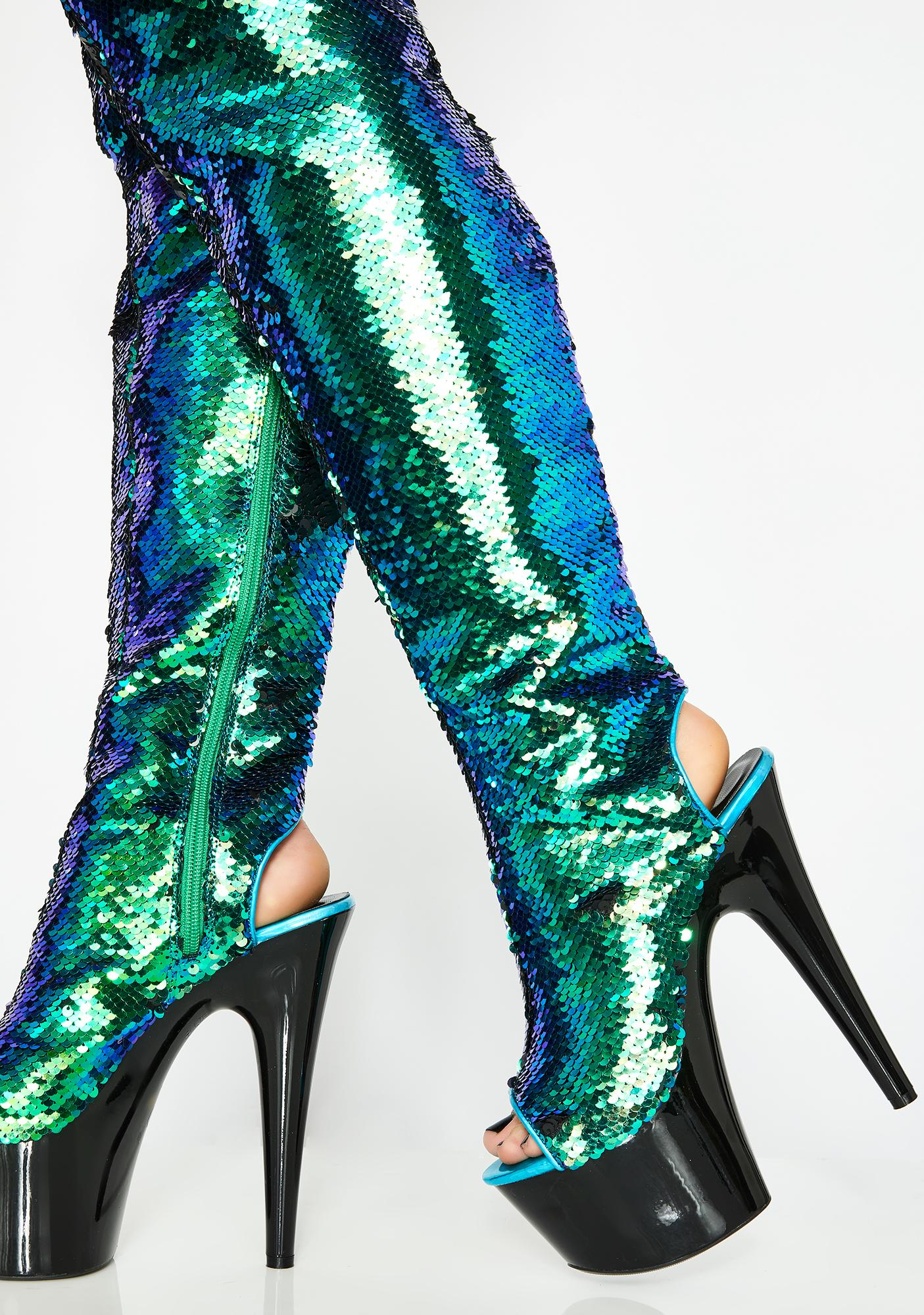 Outer Space Diva Thigh High Heels