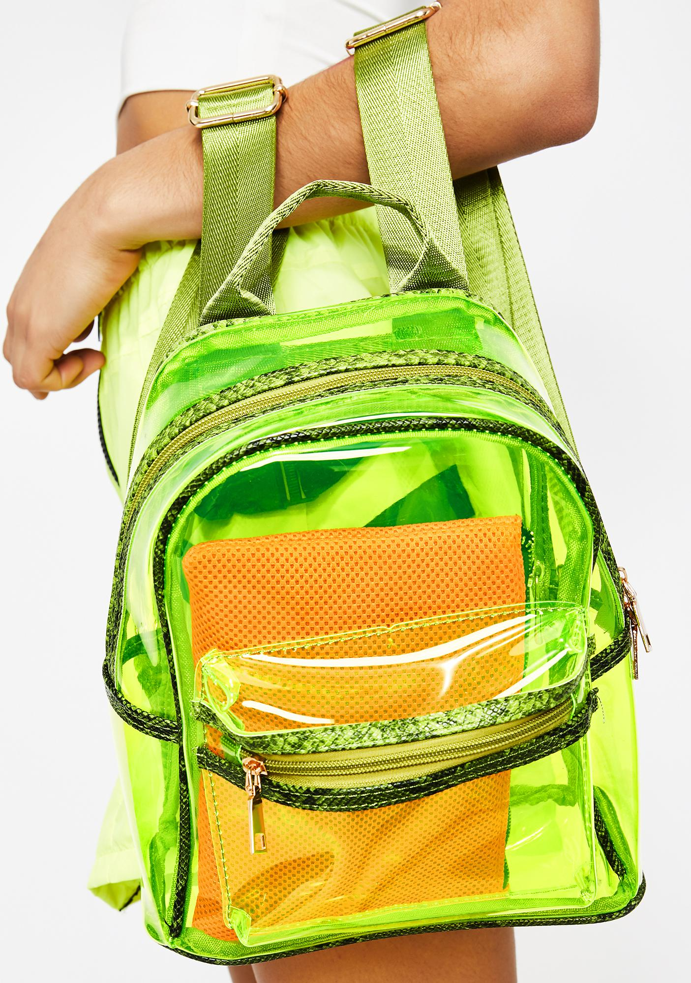 Electric Vile Stash Clear Backpack
