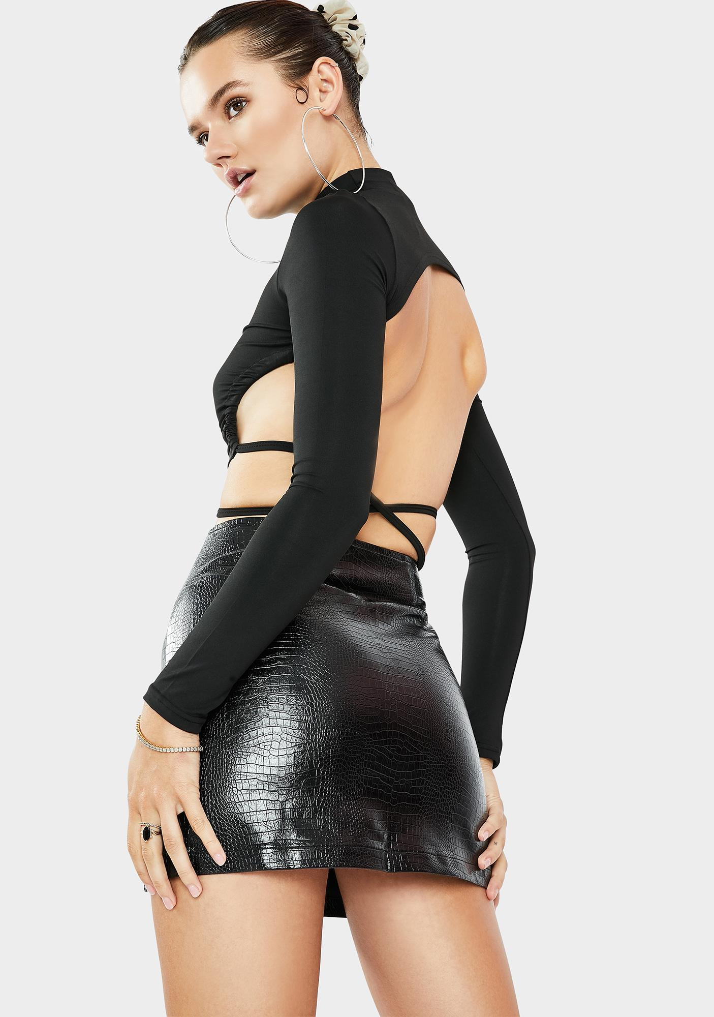 THE KRIPT Reptile Mini Slit Skirt