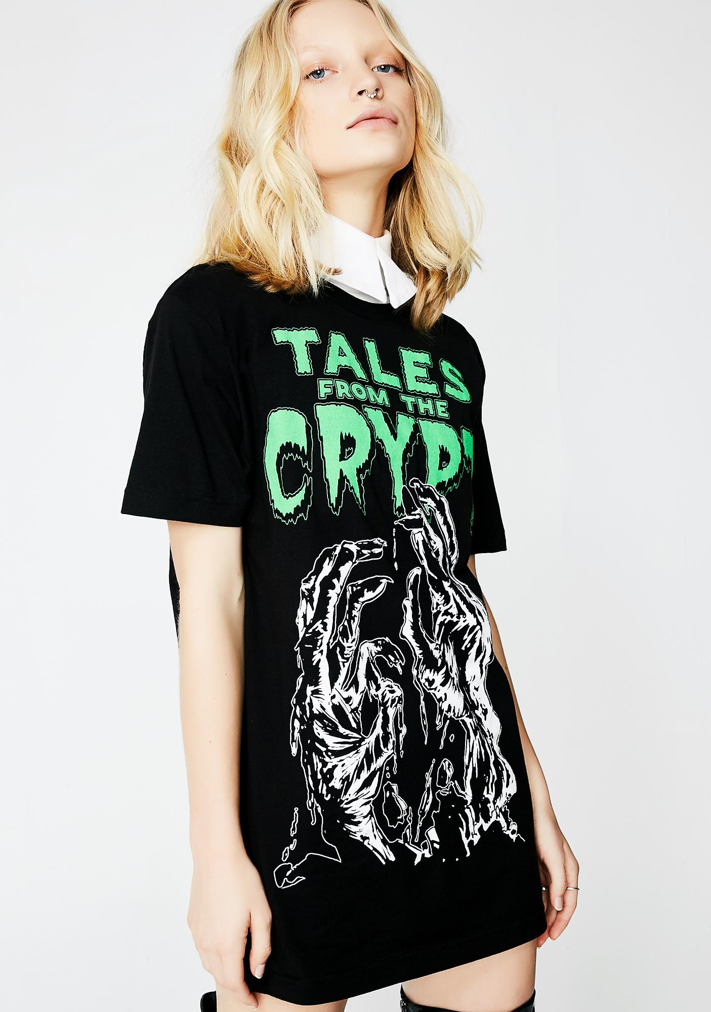Kreepsville 666 Tales From The Crypt Glow Hands T-Shirt