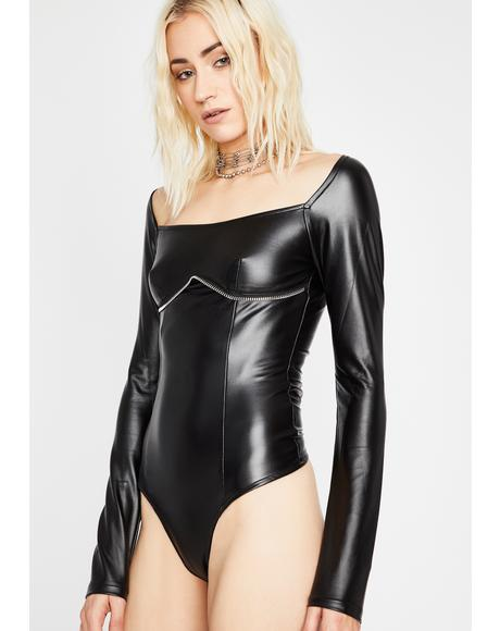 Punk Nite Vegan Leather Bodysuit