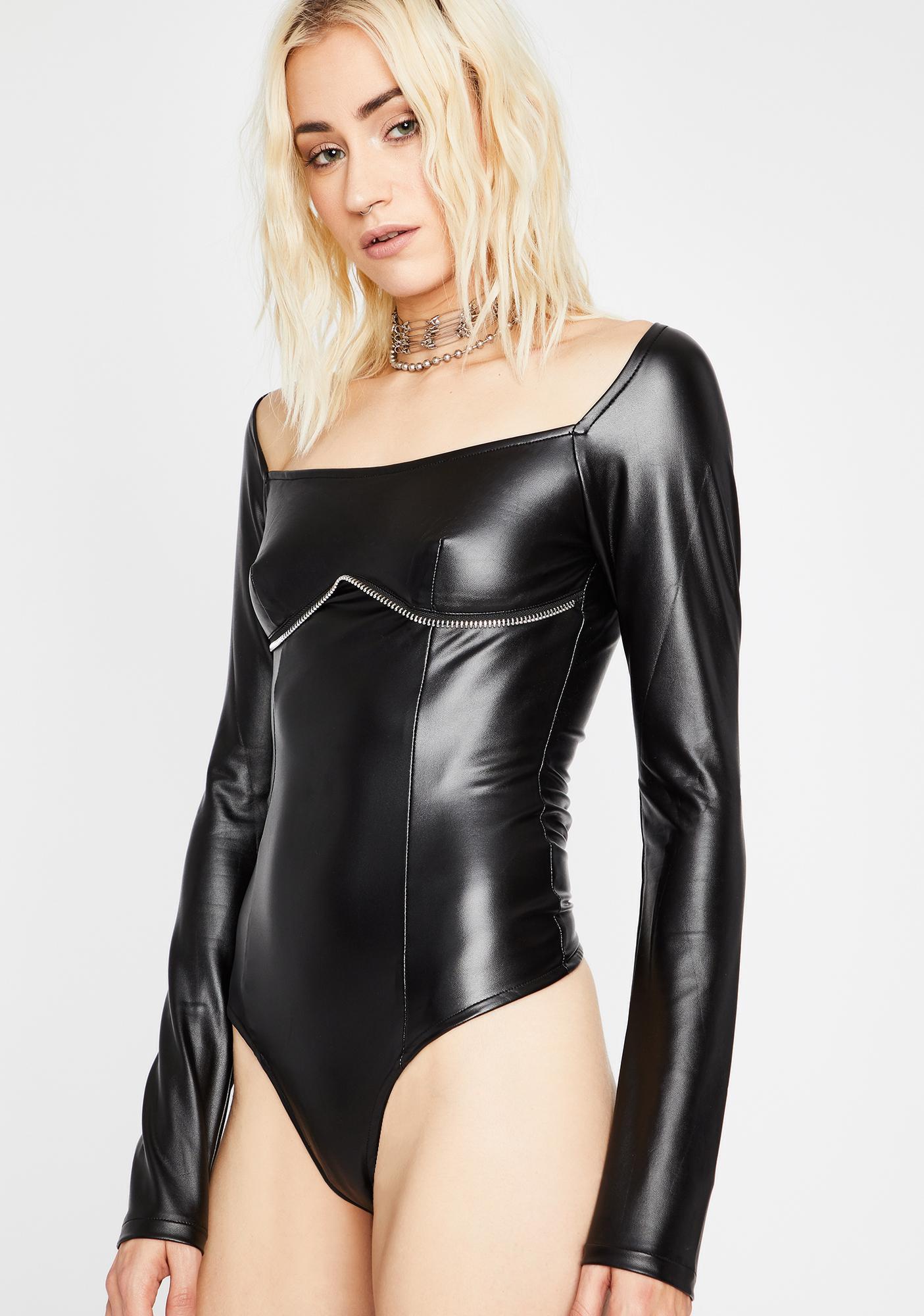 Punk Nite Vegan Leather Bodysuit