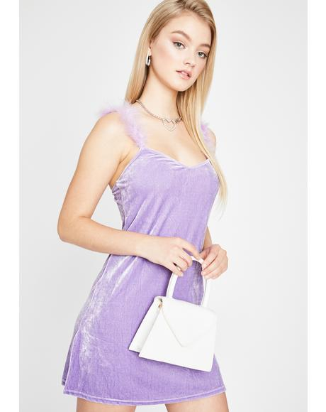 Snob N' A Half Marabou Dress