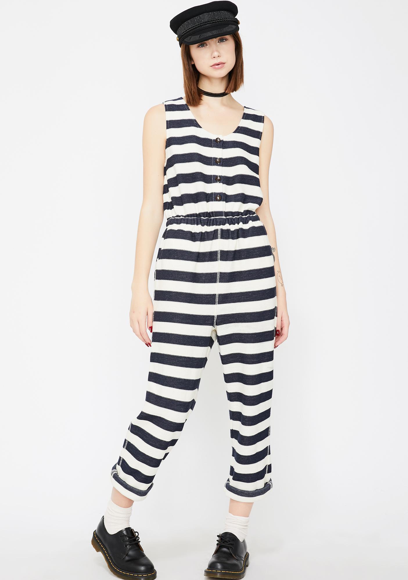 1e1b2e0b0a Prison Breaker Stripe Jumpsuit