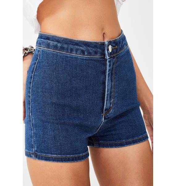Momokrom Mid Wash Mini Shorts