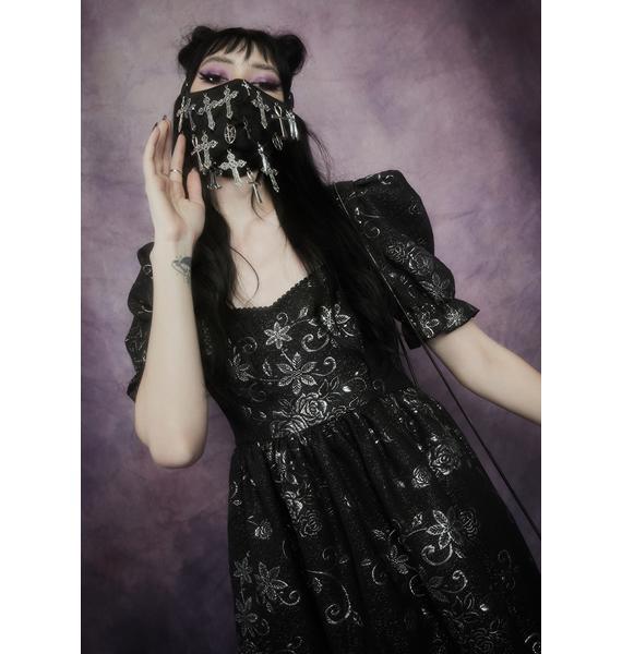 Widow Say A Prayer Cross Face Mask