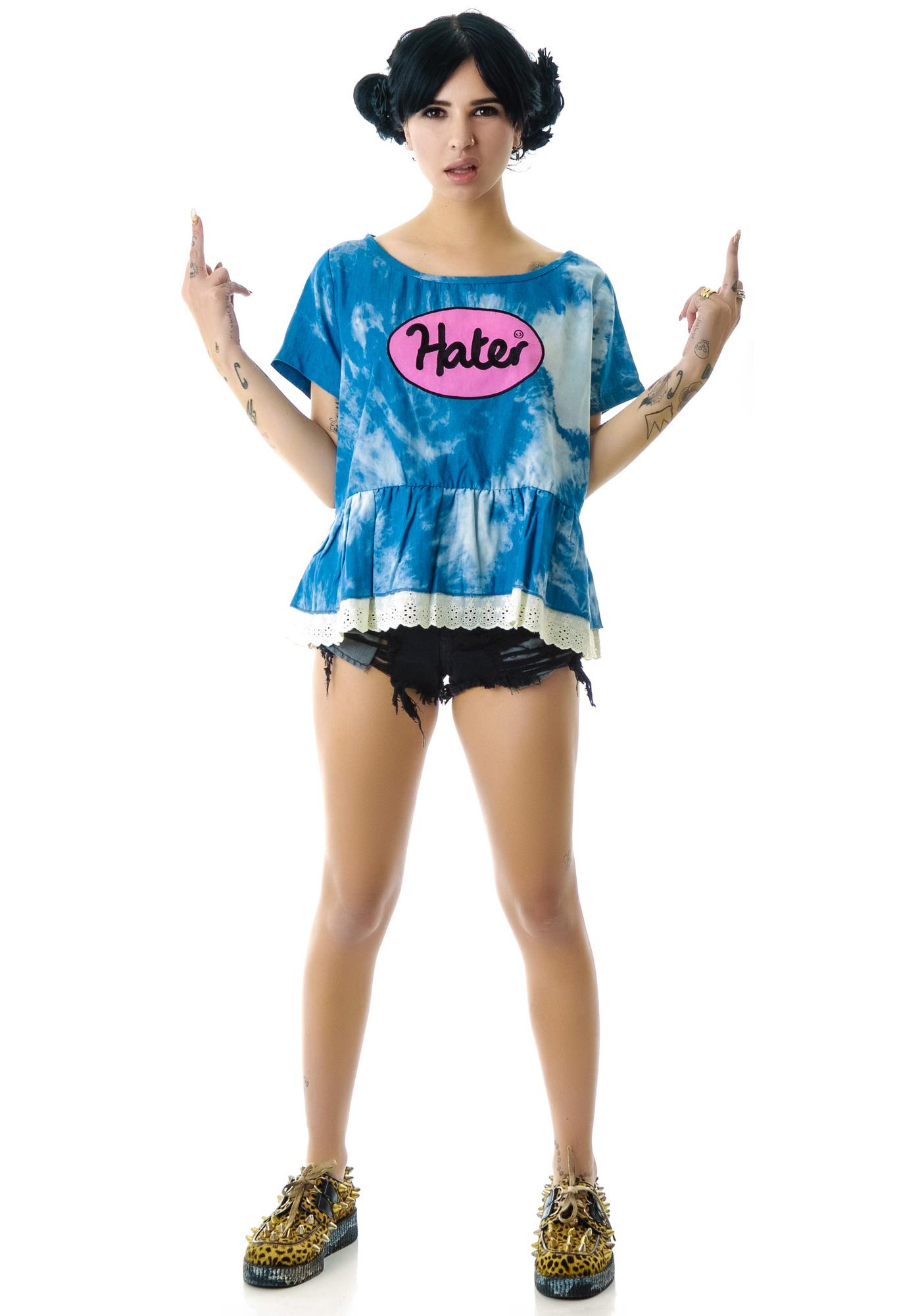 Lazy Oaf Hater Lacey Babydoll Top