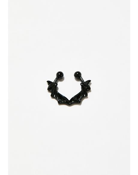 Vampress Bat Septum Ring