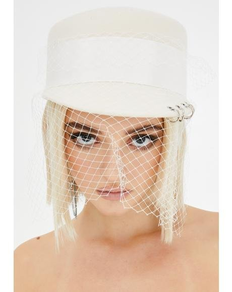 Holy Devious Damsel Veiled Hat