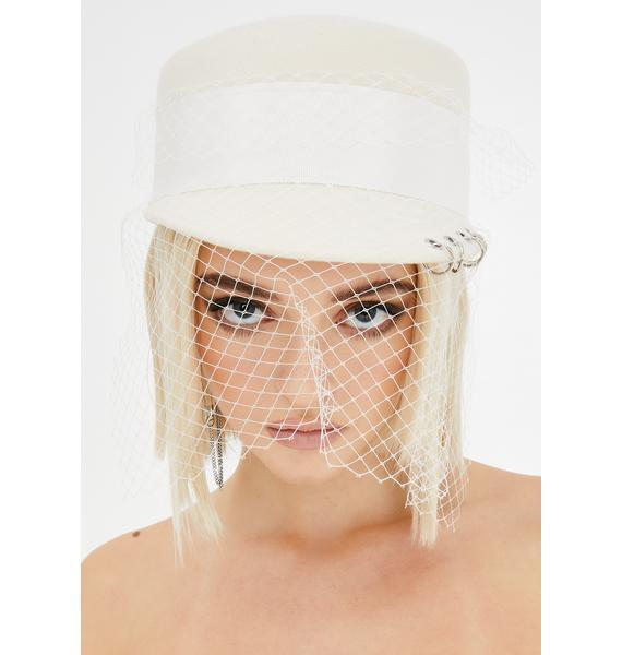 Holy Devious Damsel Veiled Hat