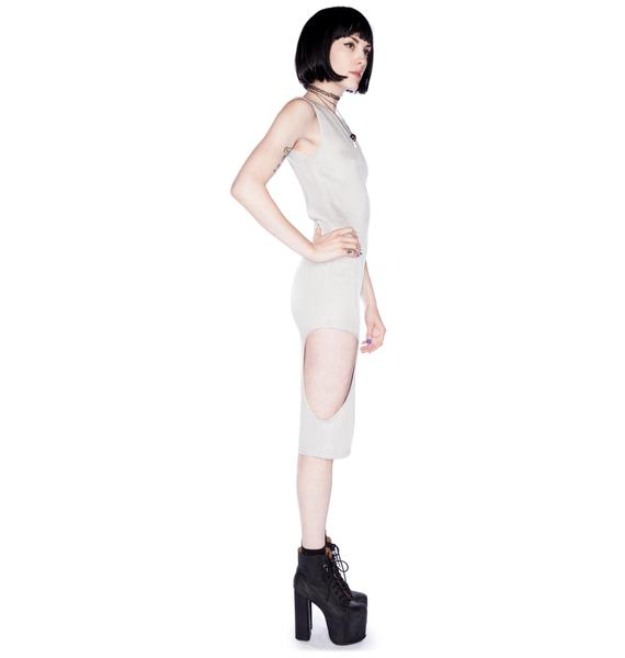 AGAIN Plato Cutout Sweater Dress