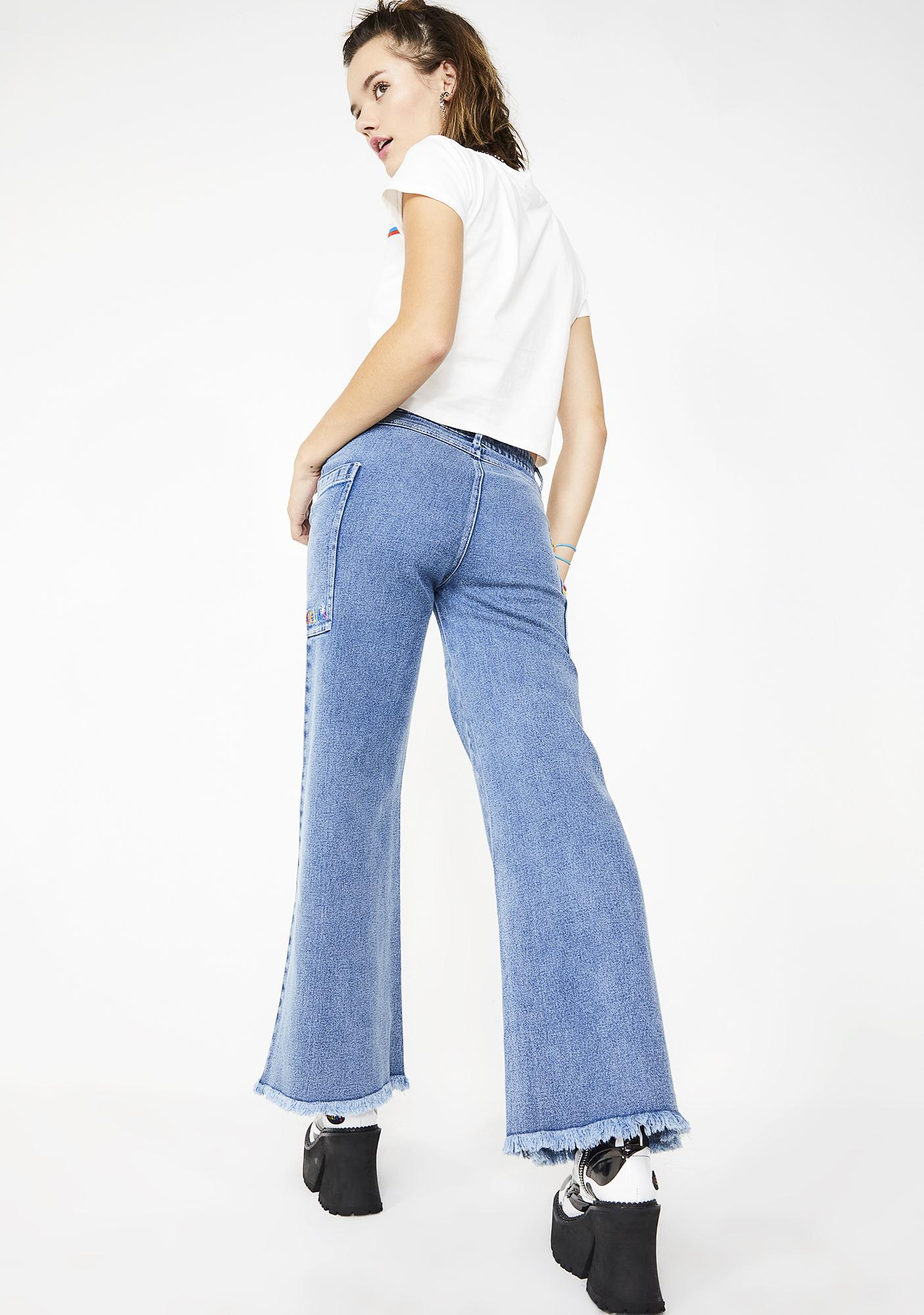 dELiA*s by Dolls Kill American Weirdo Wide-Leg Jeans
