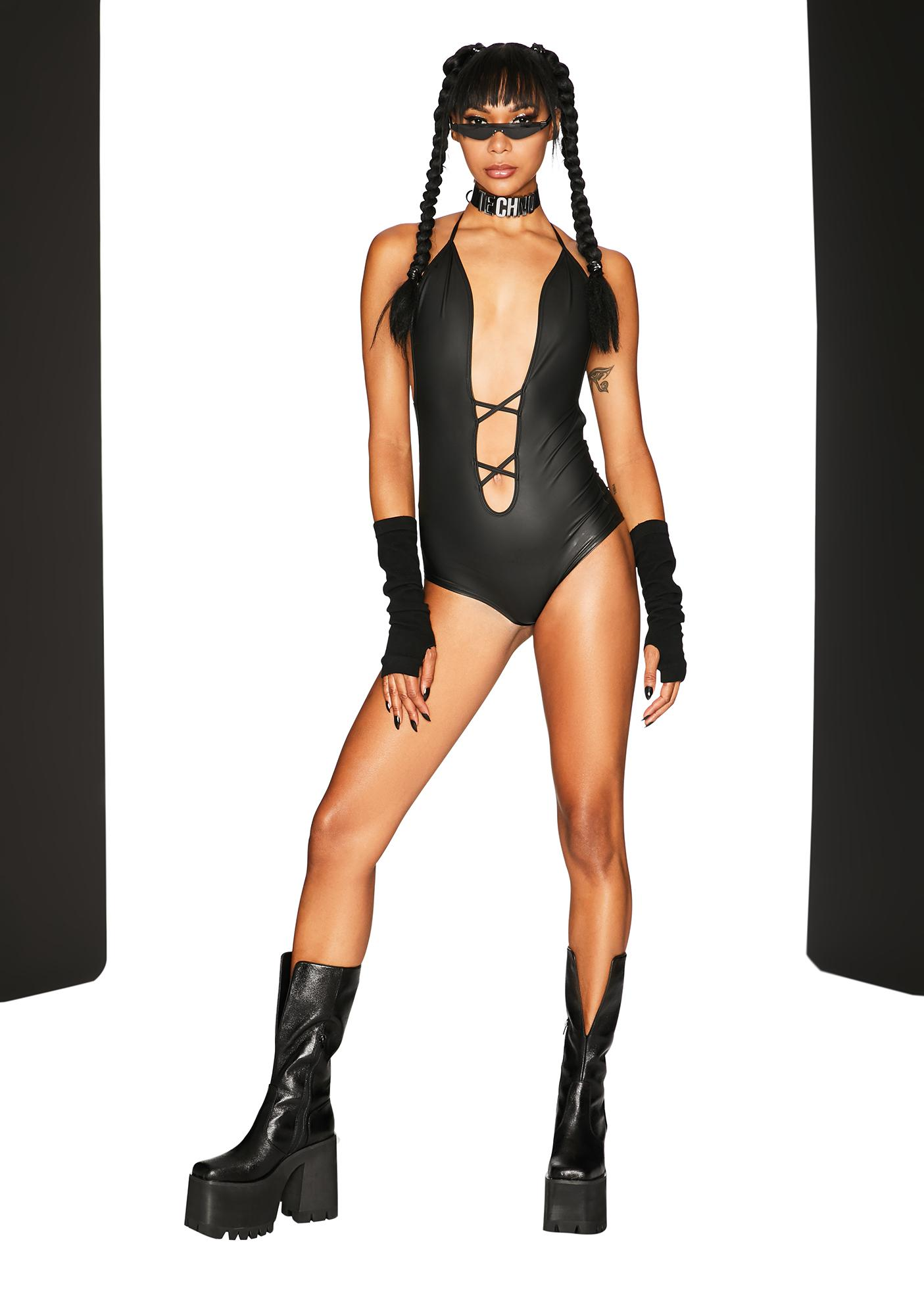 Club Exx Great Unknown Cut Out Playsuit