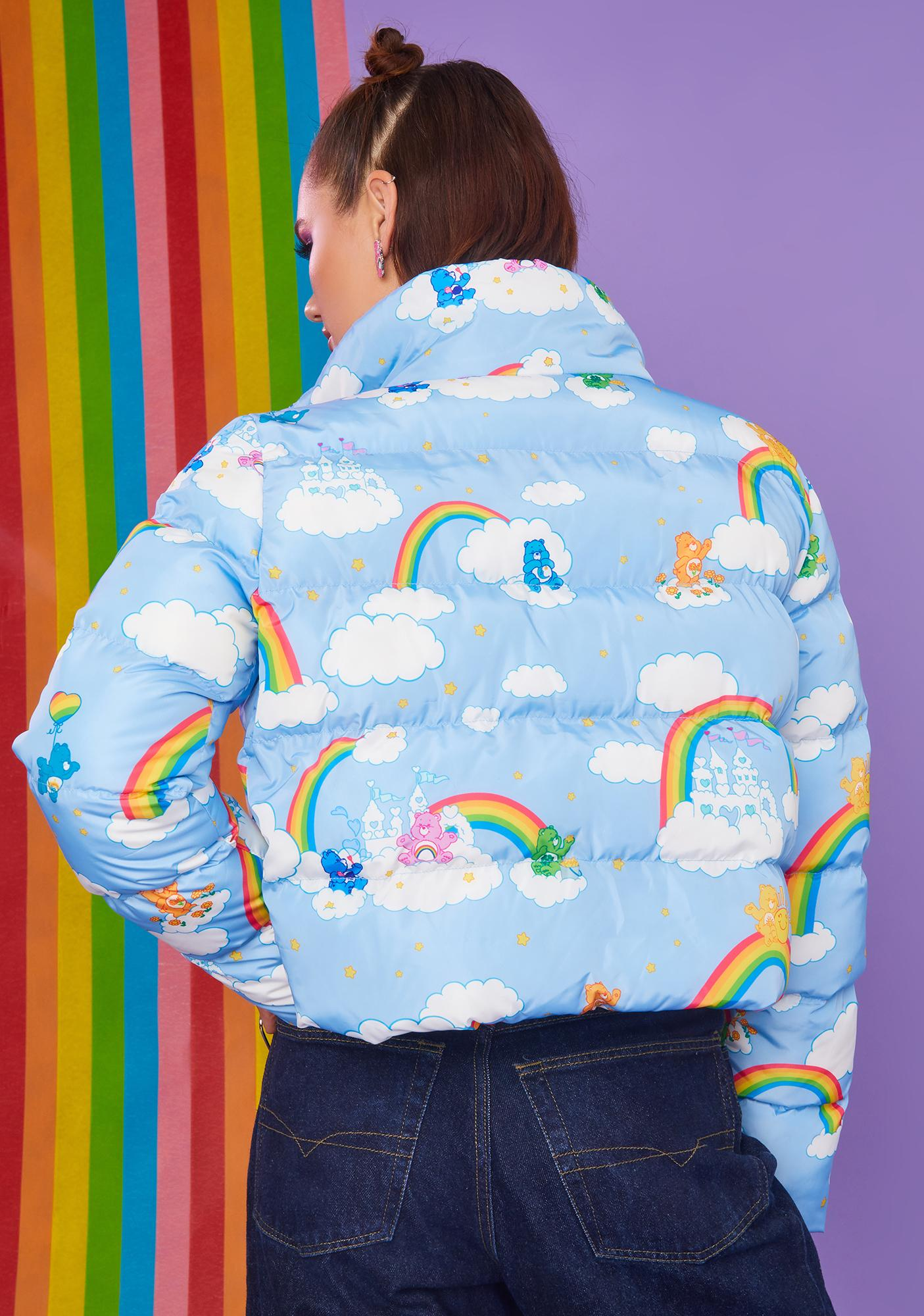 Dolls Kill x Care Bears Castle In The Clouds Puffer Jacket