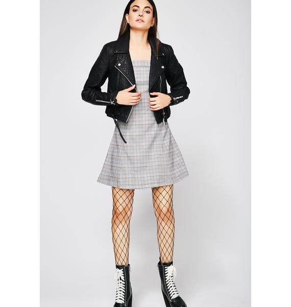 Schoolyard Sweetheart Plaid Dress