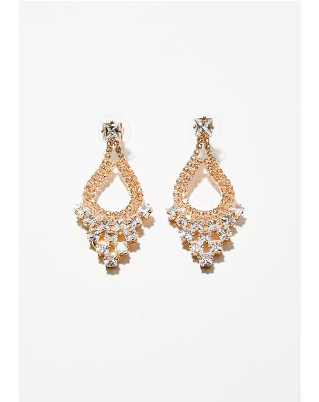 Made Of Money Rhinestone Earrings