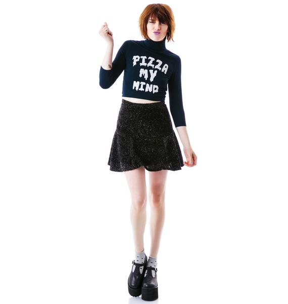 Lazy Oaf Pizza My Mind Bodycon Top