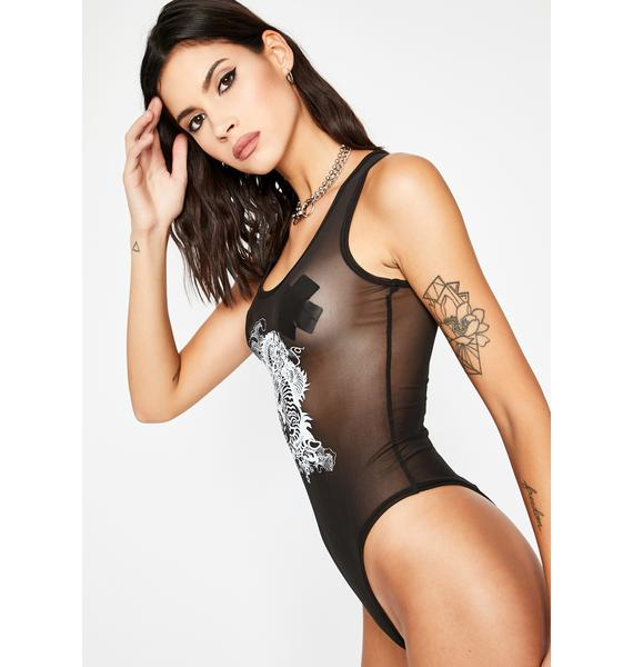 Raven I'm Real Graphic Bodysuit