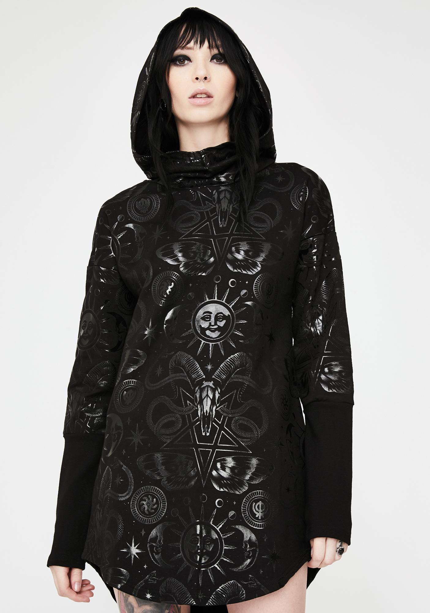 Killstar Lift The Veil Hooded Tunic