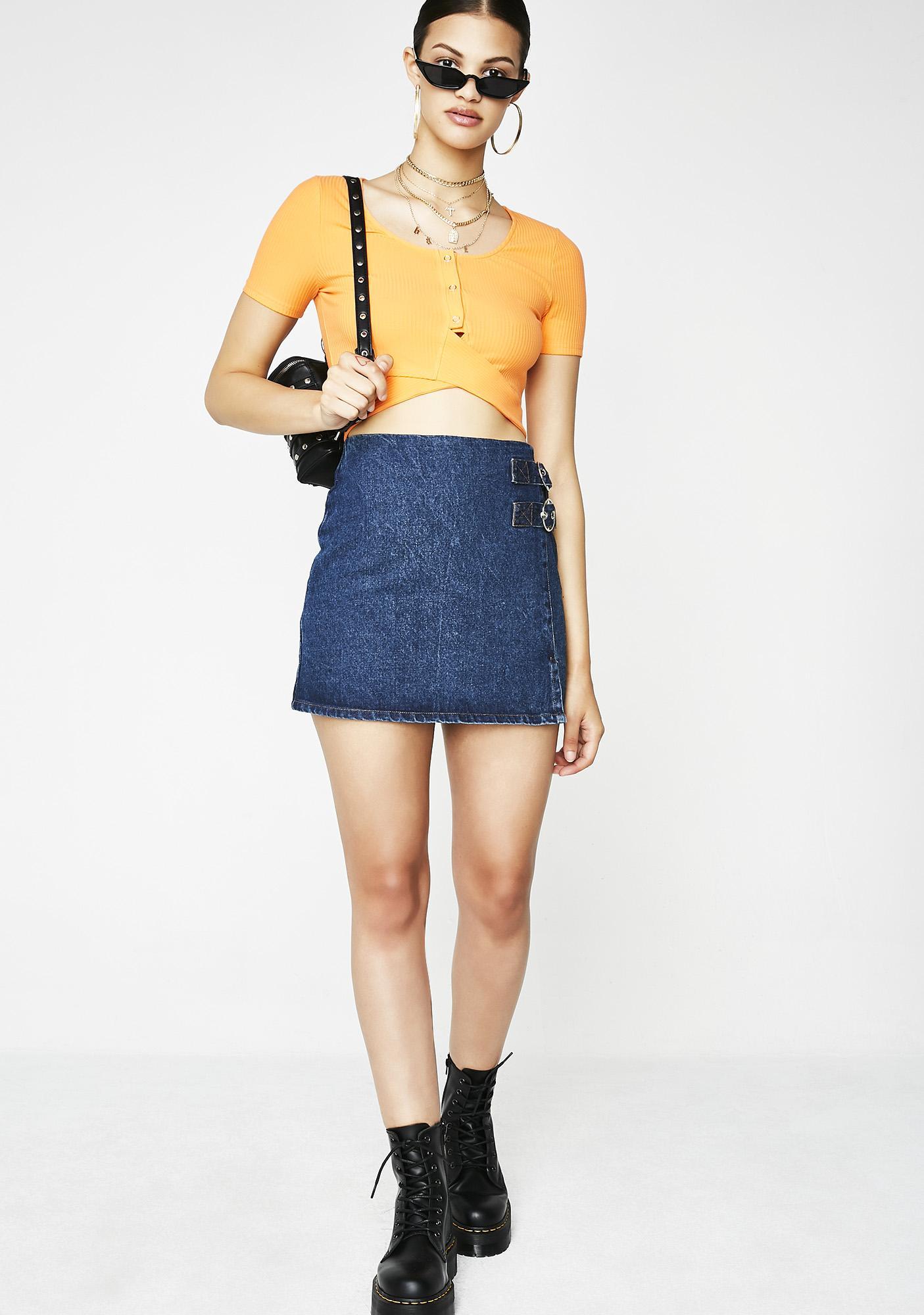 Clementine Cutie Crop Top