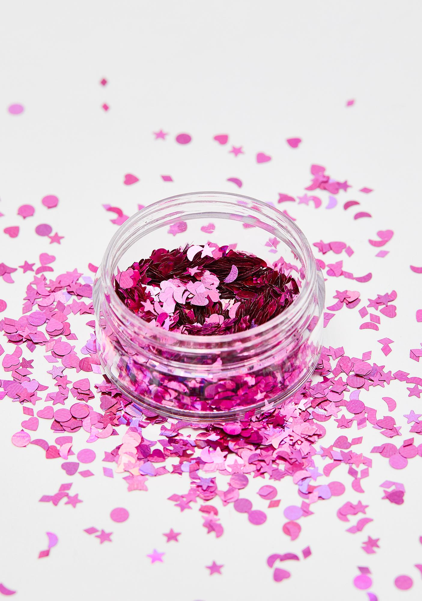 Moon Creations Pink Holographic Glitter Shapes