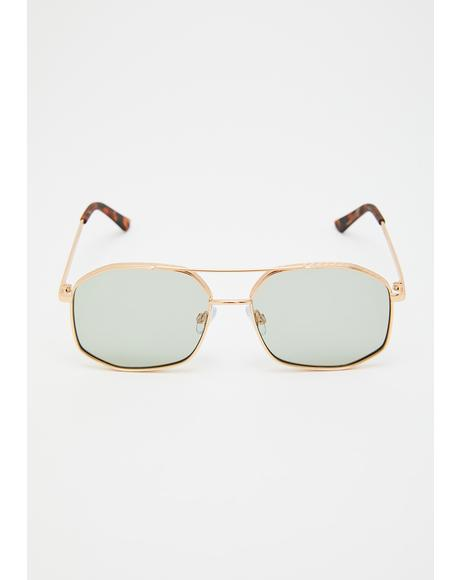 Shady Intentions Aviator Sunglasses