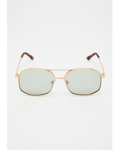 Shady Intentions Aviator Sunglasses