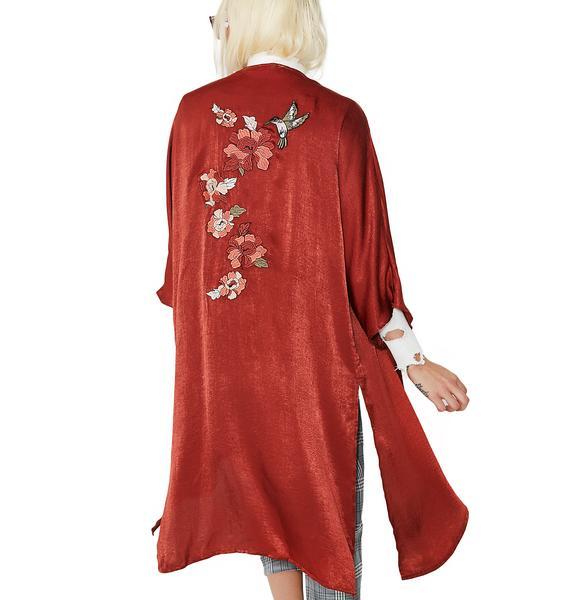 Urban Garden Embroidered Kimono