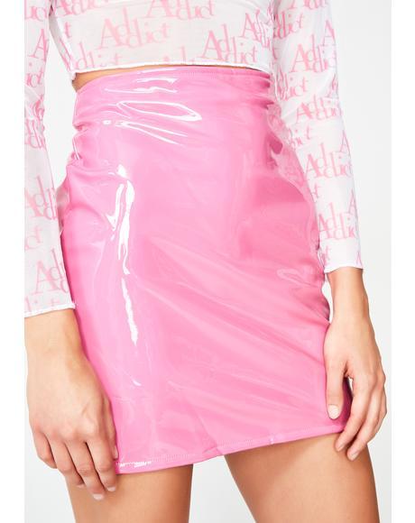 Bubblegum Bish Vinyl Skirt