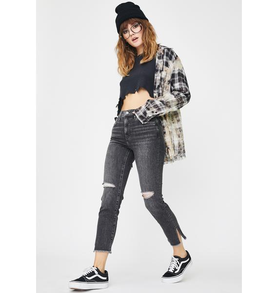 Levis Dire Straits 724 High Rise Straight Crop Jeans