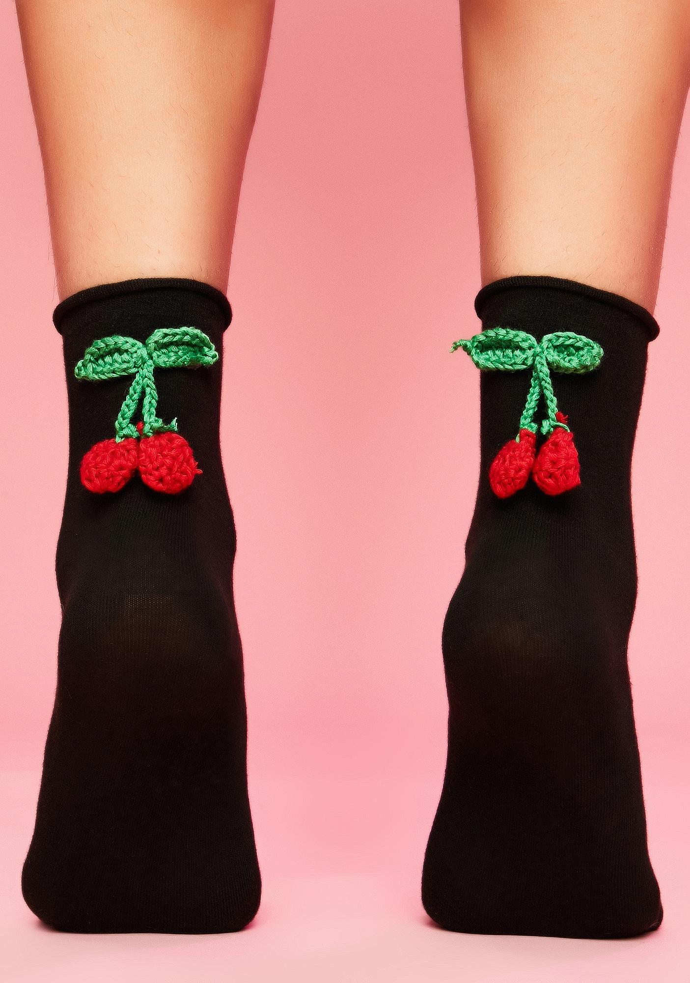 Cherry Bite Ankle Socks