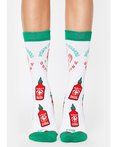Sriracha All Over Crew Socks
