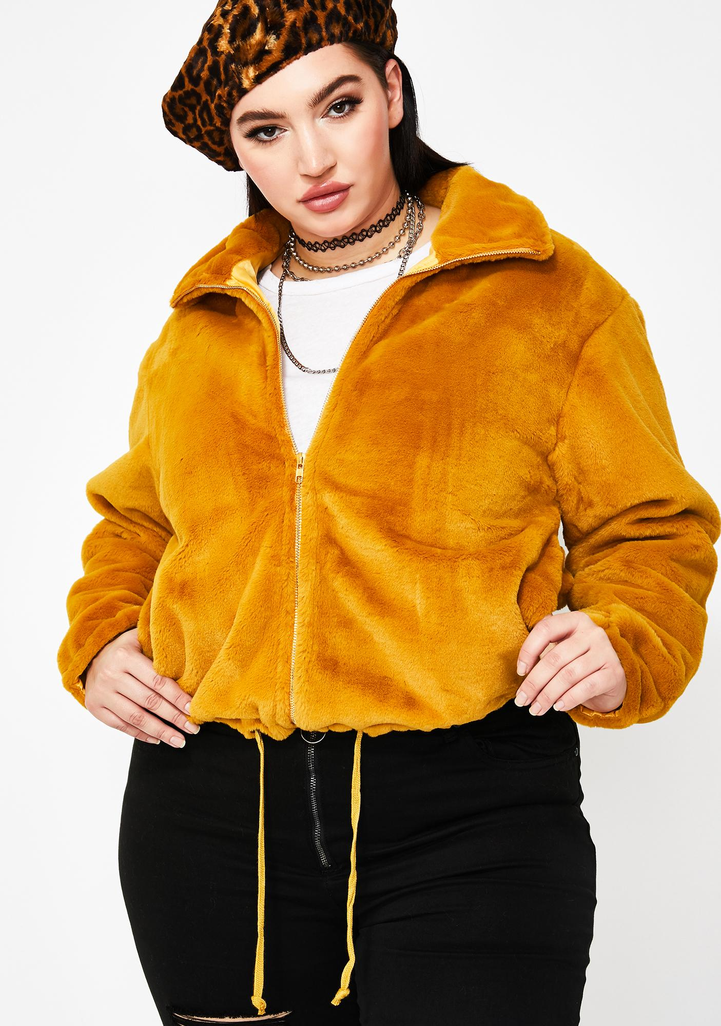 Be Nice For What Fuzzy Jacket