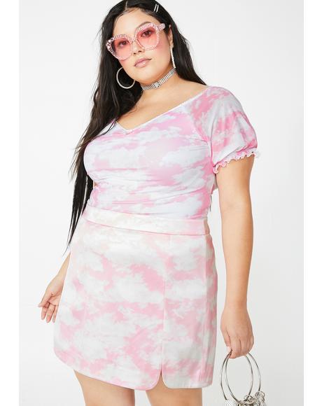 Miss Bliss Vision Satin Skirt