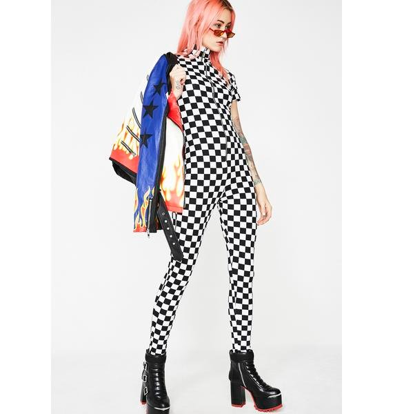 Mosh Pit Checkered Catsuit