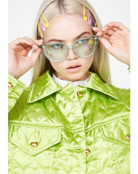 Minty Fresh Oversize Sunglasses