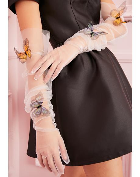 Silk Butterfly Gloves