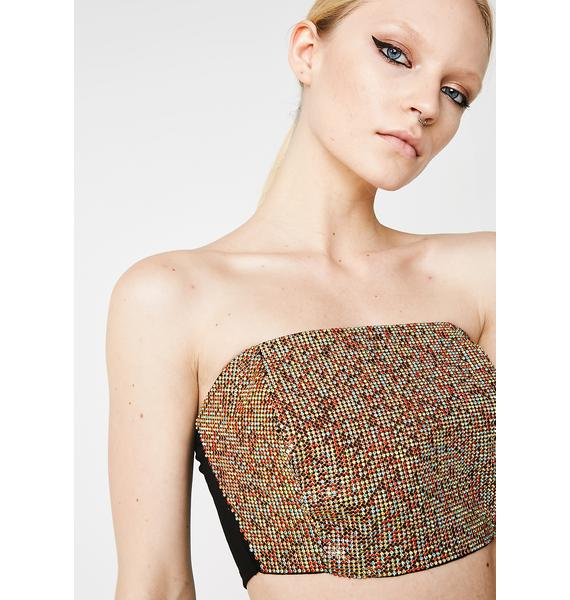 Pixelated Gem Tube Top