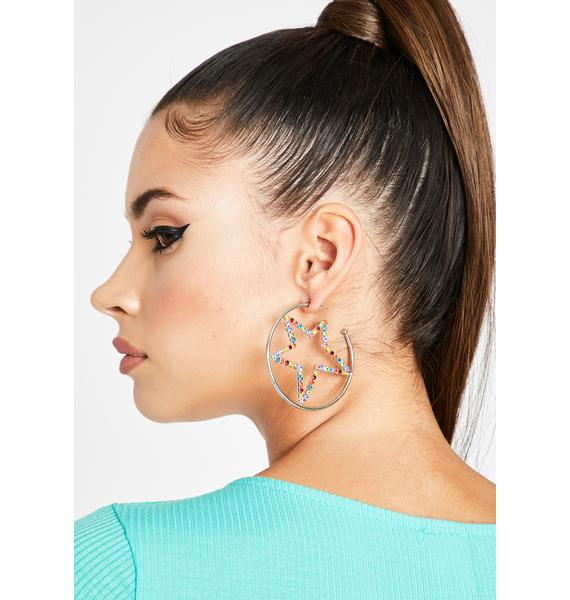 Welcome To Stardom Hoop Earrings