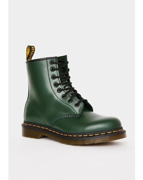 Green 1460 8 Eye Boots