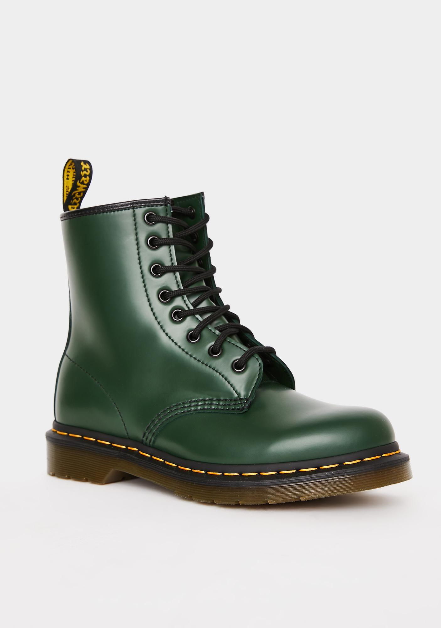 Dr. Martens Green 1460 8 Eye Boots